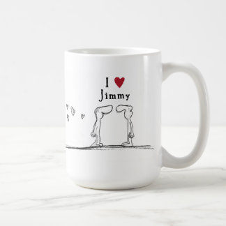 "I love Jimmy"" ""I heart Jimmy"" Jimmy love Coffee Mug"