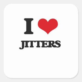 I Love Jitters Square Sticker