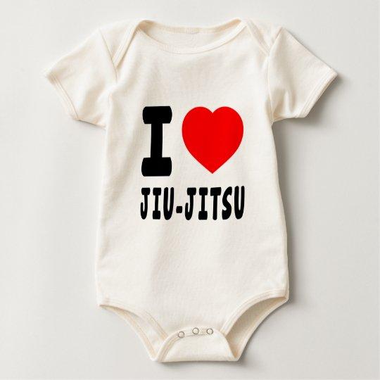 I Love Jiu-Jitsu Baby Bodysuit