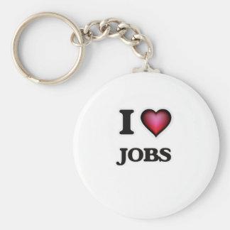 I Love Jobs Keychain