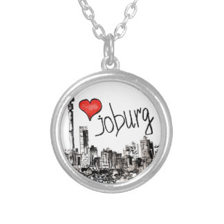 I love Joburg Silver Plated Necklace