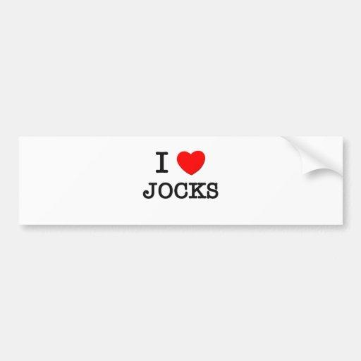 I Love Jocks Bumper Sticker