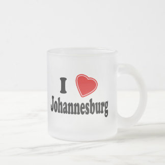 I Love Johannesburg Frosted Glass Coffee Mug