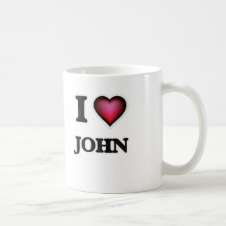 I Love John Coffee Mug