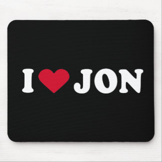 I LOVE JON MOUSE PAD