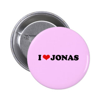 I LOVE JONAS 2 INCH ROUND BUTTON