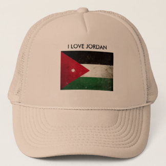 I Love Jordan Flag Trucker Hat Men Cap
