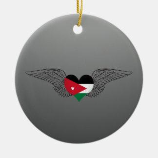 I Love Jordan -wings Ceramic Ornament
