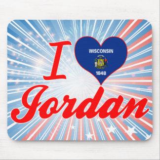 I Love Jordan, Wisconsin Mouse Pad
