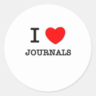 I Love Journals Classic Round Sticker