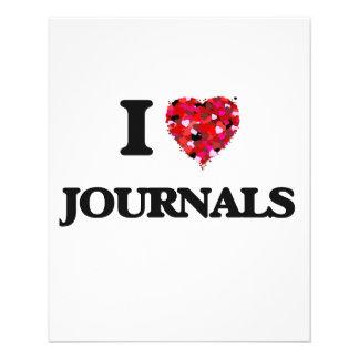 I Love Journals Custom Flyer