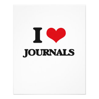 I Love Journals Personalized Flyer