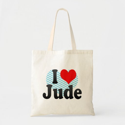I love Jude Canvas Bag