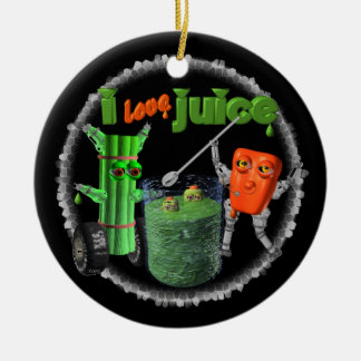 I Love Juice celery & pepper template 100+ items Ceramic Ornament