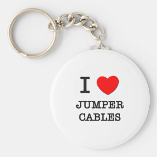 I Love Jumper Cables Keychain