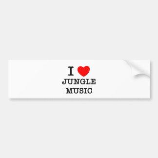 I Love Jungle Music Bumper Sticker