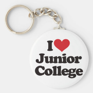 I Love Junior College! Basic Round Button Keychain