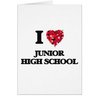 I Love Junior High School Greeting Card