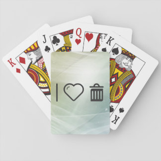 I Love Junk Playing Cards