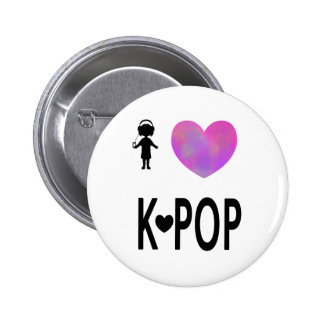 I love K-pop 2 Inch Round Button