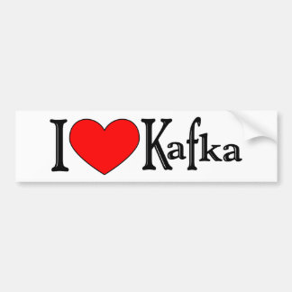 I Love Kafka Bumper Sticker