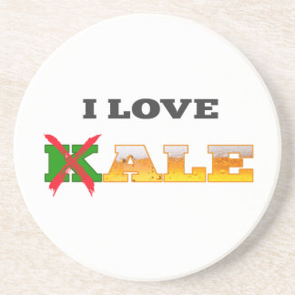 I Love Kale, Funny, Nerdy Beer Lover Gifts. Coaster