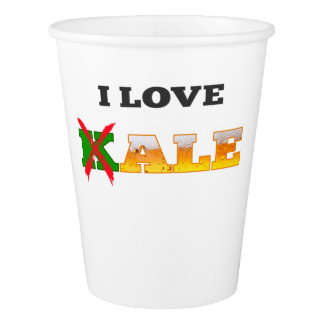 I Love Kale, Funny, Nerdy Beer Lover Gifts. Paper Cup