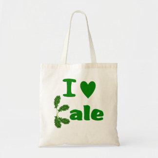 I Love Kale (I Heart Kale) Reusable Grocery Cloth Tote Bag