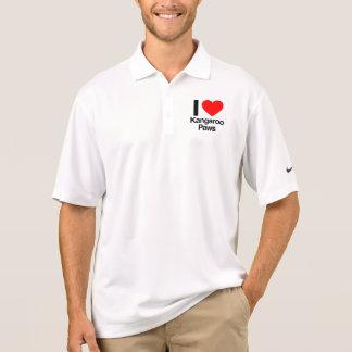 i love kangaroo paws polo t-shirt