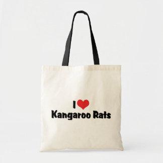 I Love Kangaroo Rats Canvas Bags