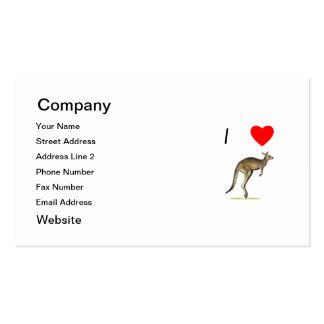 I Love Kangaroos (2) Business Card