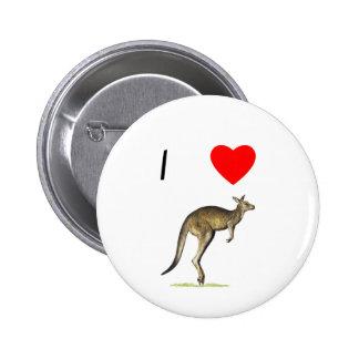 I Love Kangaroos 2 Button