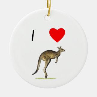 I Love Kangaroos (2) Ceramic Ornament