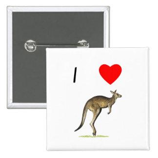 I Love Kangaroos 2 Pin