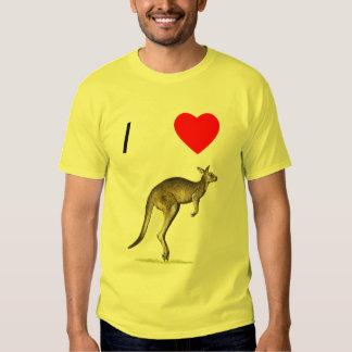 I Love Kangaroos (2) T Shirt