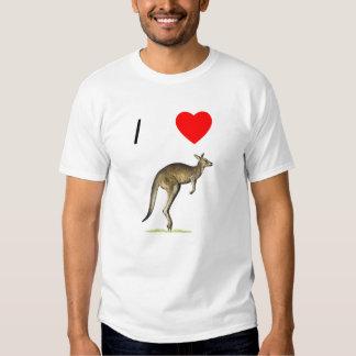 I Love Kangaroos (2) Tshirt