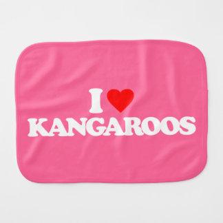I LOVE KANGAROOS BABY BURP CLOTH