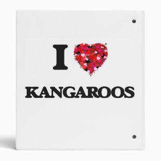 I Love Kangaroos 3 Ring Binders