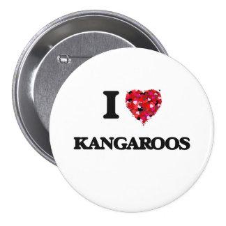 I Love Kangaroos 3 Inch Round Button