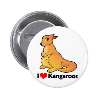 I Love Kangaroos Buttons