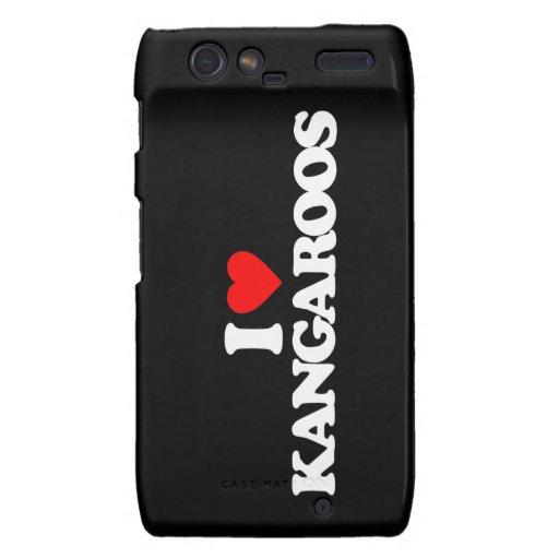 I LOVE KANGAROOS MOTOROLA DROID RAZR CASES