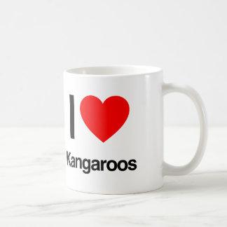 i love kangaroos classic white coffee mug
