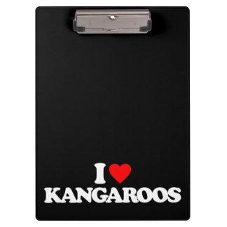I LOVE KANGAROOS CLIPBOARD