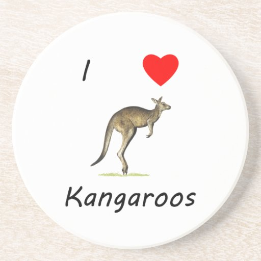 I Love Kangaroos Coaster