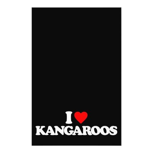 I LOVE KANGAROOS FLYER DESIGN