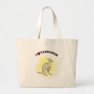 I Love Kangaroos - I Heart Roos Jumbo Tote Bag