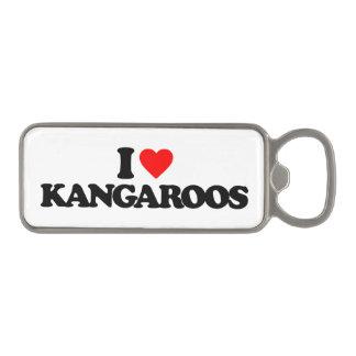 I LOVE KANGAROOS MAGNETIC BOTTLE OPENER