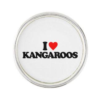 I LOVE KANGAROOS LAPEL PIN