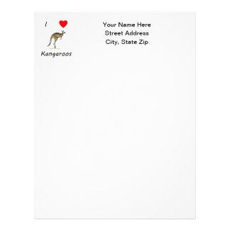 I Love Kangaroos Letterhead Design
