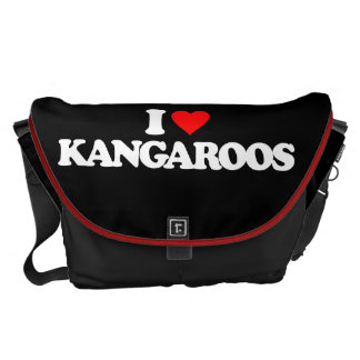 I LOVE KANGAROOS COURIER BAGS